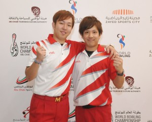 Daisuke Yoshida and Shusaku Asato of Japan 2 topping the third squad of the Doubles event