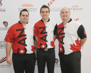 David Simard, Francois Lavoie and Dan MacLelland of Canada topping the second Trios squad to move into second overall