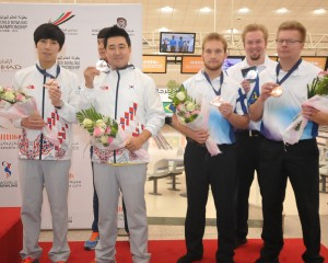 Doubles Bronze medalists, Korea 2 and Finland