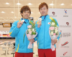 Doubles Silver medalists, Shusaku Asato and Diasuke Yoshida of Japan