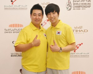 Kang Hee Won and Shin Seung Hyeon of Korea