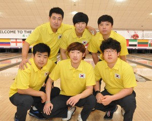Korea set a new 3-game series record with 3354 to lead the first squad of Block 1