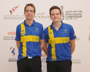 Martin Larsen and Daniel Fransson of Sweden