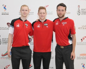Thomas Larsen, Carsten Hansen and Frederik Ohrgaard of Denmark led first squad of the Trios event