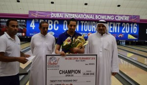 Open Div Champion - Naif Oqab with chq